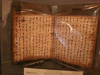 Batak script - Image: Paper Museum in Atlanta 010