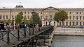 Paris Pont des Arts Bridge and Louvre, 8 October 2011.jpg