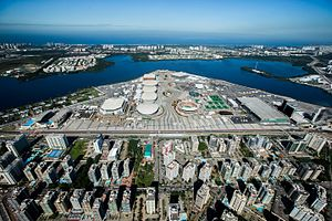 Barra Olympic Park - Aerial view of Barra Olympic Park in May 2016, looking southward.