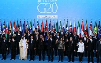 Regional power - Leaders of most regional powers during the 2015 G-20 summit in Antalya, Turkey