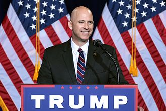 Paul Babeu - Babeu speaking at a campaign event for Republican presidential nominee Donald Trump on August 31, 2016.