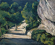 Paul Cézanne - Landscape. Road with Trees in Rocky Mountains - Google Art Project.jpg