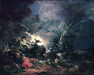 "Francesco Giuseppe Casanova - The Storm, one of four ""disaster paintings"""