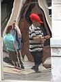 Pedestrians Reflected in Window - Cartagena - Spain (14422990046).jpg