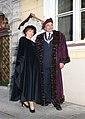 Peeter Lepp, Tallinna eksmeer, abikaasaga Vanalinna päevadel 99.jpg