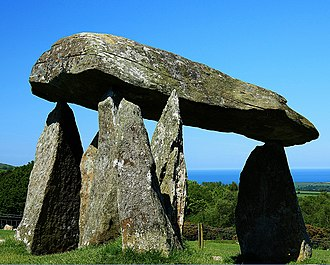 Cadw - Pentre Ifan, a Neolithic dolmen in Pembrokeshire