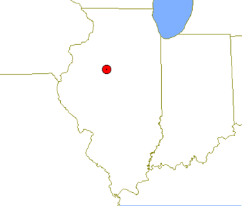 Location map of Peoria, Illinois