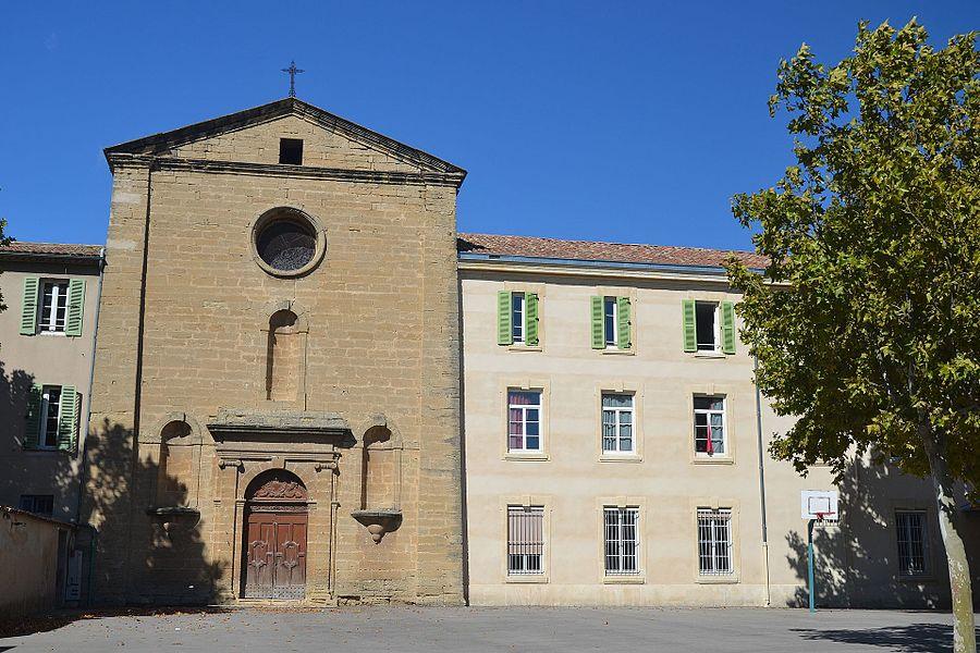 Façade de la chapelle de l'hôtel (hospice) de la Charitéchapelle, portail, vestibule, élévation, toiture