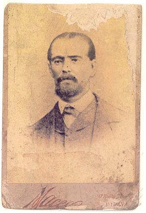 Perucho Figueredo - Postcard of Perucho Figueredo, c 1860s