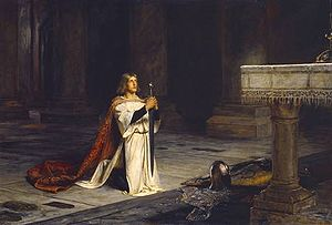 "Vigil - ""A Knight's Vigil"" by John Pettie"