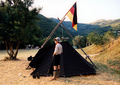 Pfadfinderstamm Ägypten, Internationales Sommerlager (AGESCI – KPE – MCsSz) bei Arlia nahe Fivizzano, Toskana, Italien, 1993 - Ankunftsabend.png
