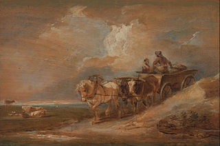 Landscape with Horse and Oxen Cart