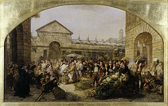Phoebus Levin - Covent Garden Market, Phoebus Levin, 1864. Oil on canvas. Museum of London.
