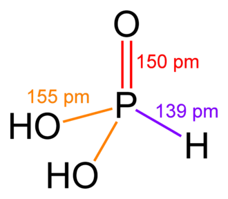 Phosphorous acid - Image: Phosphonic acid 2D dimensions
