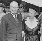 Photograph of President Truman with First Lady Bess Truman at the airport in... - NARA - 200391.jpg