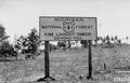 Photograph of Sign Board Near Demond Hill Fire Lookout Tower - NARA - 2127777.tif