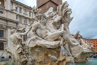 Piazza Navona - Fontana dei Quattro Fiumi on Piazza Navona 2013
