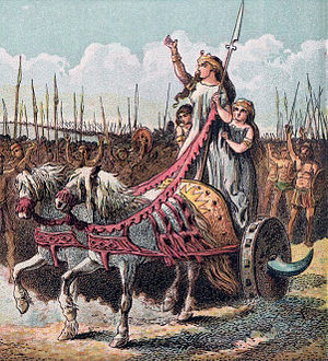 Boadicea, leader of the rebellion against the ...