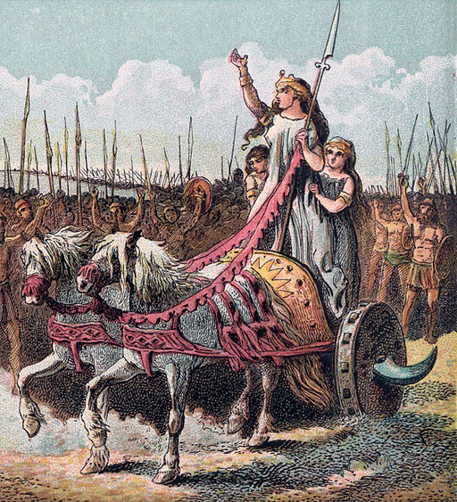 Pictures of English History Plate IV - Boadicea and Her Army