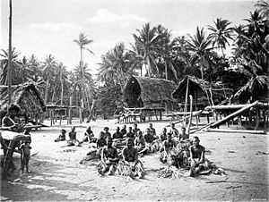 Papua New Guinea - Kerepunu women at the marketplace of Kalo, British New Guinea, 1885