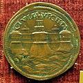 Pier maria serbaldi da pescia, medaglia di giulio II, verso con fortificazioni di civitavecchia.JPG