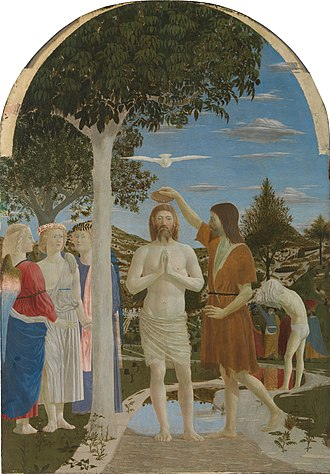 Baptism of Jesus - The Baptism of Christ by  Piero della Francesca, c. 1450