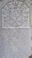 Pierre tombale de Charles de Prelle dit Compère (1558–1608) et d'Antoine de Prelle dit Compère († 1644).png