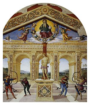 Panicale - Pietro Perugino's Martyrdom of Saint Sebastian