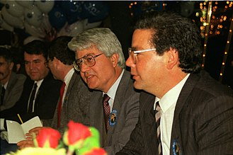 David Levy (Israeli politician) - Levy with brother Maxim Levy, c. 1988