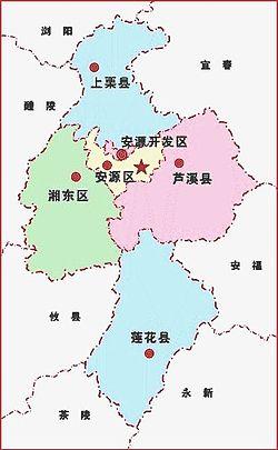 Bản đồ Bình Hương (Thượng Lật màu xanh dương, phía bắc)