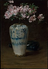 Pink Azalea—Chinese Vase