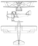 Pitcairn PA-1 Fleetwing 3-view Les Ailes August 12, 1926.png