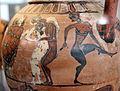 Pittore di timiades, anfora tirrenica con animali, figure mitologiche e scene erotiche, da tharros (cabras), 570-60 ac ca. 05.JPG