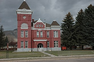 National Register of Historic Places listings in Piute County, Utah - Image: Piute County Courthouse Junction Utah