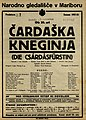 Plakat za predstavo Čardaška kneginja v Narodnem gledališču v Mariboru 13. novembra 1927.jpg
