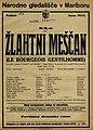 Plakat za predstavo Žlahtni meščan v Narodnem gledališču v Mariboru 11. aprila 1926.jpg