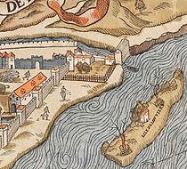 Plan de Paris vers 1550 color tour de Billy disparue.jpg