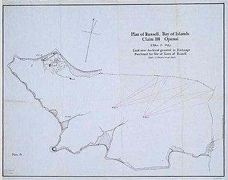 Okiato - Plan of Russell (Okiato)