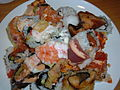 Plate of sushi, Kome Japanese Seafood & Grill, Daly City.JPG