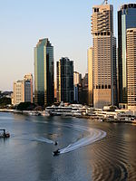 Police boats on the Brisbane River