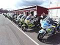 Police motorcycles at Gelleråsen 2016-04-24 2.jpg