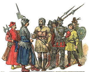 Polish–Teutonic War (1519–21) - 16th-century Polish soldiers, depicted by Jan Matejko
