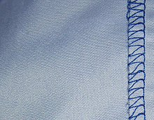 Close Up Of A Polyester Shirt Stretching Fabric