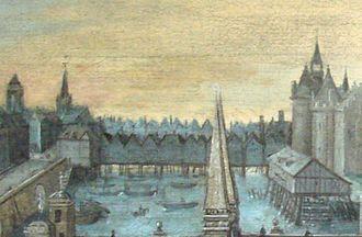 Pont au Change - Pont au Change in 1577.