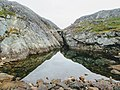 Pool apart from lake Lake Tasersuaq hike Qaqortoq Greenland.jpg