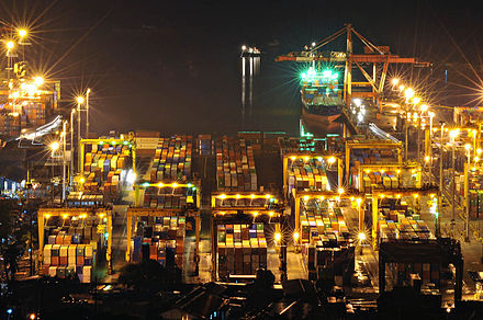 Port of Manila, the busiest port in the Philippines. - Philippines