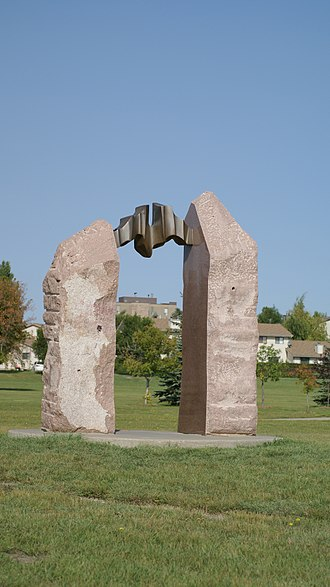 Canada Games - Portail de la Promesse was erected in the Lawson Heights neighbourhood in Saskatoon during and to commemorate the 1989 Canada Games