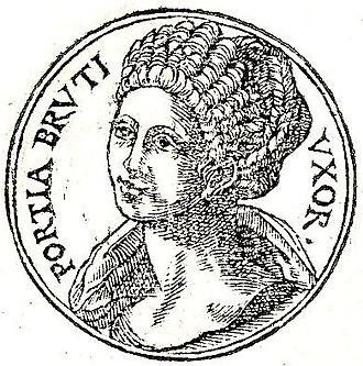 Porcia (wife of Brutus) - Porcia from Guillaume Rouillé's Promptuarii Iconum Insigniorum .