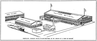 Portland Woolen Mills - A drawing of the Portland Woolen Mills in St. Johns.