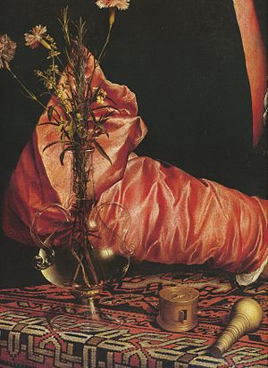 Georg Giese - Image: Portrait of Georg Gisze (detail of arm), by Hans Holbein the Younger